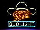 NEW GEORGE STRAIT BUD LIGHT BEER REAL GLASS NEON BAR PUB SIGN