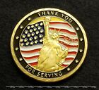 US ARMED FORCES PAST & PRESENT Coin Active  Military Veteran Army Navy USAF USMC
