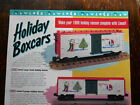 1996 LIONEL TRAINS HOLIDAY BOXCARS PROMOTIONAL FLYER Mint Condition