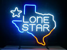 NEW LONE STAR TEXAS BEER  REAL GLASS NEON LIGHT BEER BAR SIGN