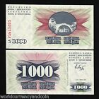 BOSNIA 1000 DINARA P15 1992 BUNDLE UNC CROATIA ORIGINAL CURRENCY PACK 100 NOTES