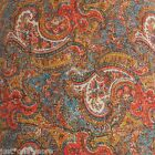 VILLA VINCENZA PAISLEY QUEEN QUILT 2pc SET RED GOLD TEAL BLUE NOBLE EXCELLENCE