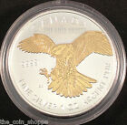 2014 1 oz Silver Coin - Peregrine Falcon Gilded Edition - 24K Gold Plating