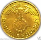 German 3rd Reich 1937A 5 Rp Coin w/ Swastika - Nazi Germany WW 2 -  Rare Coin