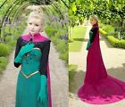 New Frozen Snow Queen Elsa Outfit Disney Coronation Dress Cosplay Costume