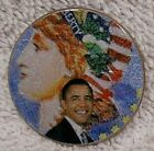Colorized - 2001 Kennedy Half Dollar Coin - Obama with Lady Liberty