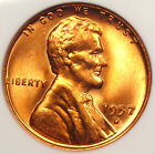 1957-D Lincoln Wheat Cent ANACS MS67 RD ... Price Guide Value of $500!