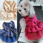 Wedding Princess Bow Dress Poodle Chihuahua Puppy Cat Small Dog Pet Clothes New