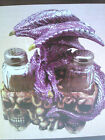 Purple Dragon w/Skulls Figurine with Salt and Pepper Shakers