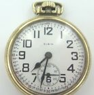 1927 ELGIN B W RAYMOND 21J 16S 10K GOLD FILLED POCKET WATCH IN WORKING ORDER.