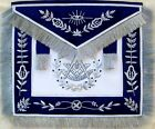 MASONIC PAST MASTER APRON SILVER BULLION HAND EMBROIDERED VINE WORK (MA-418-GF)