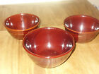 3 MarCrest USA Daisy 'n Dot Oven Proof Stoneware Serving Bowls Colorado Brown