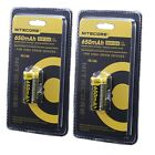 Nitecore RCR123A 2-Pack 3.7V 650mAh Rechargeable CR123A Lithium Batteries