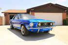 Ford  Mustang Coupe 1968 68 ford mustang coupe 347 420 hp blue custom hot rod