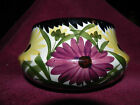 Vintage German Pottery Bowl Flower Daisy/Zinnias Floral 3-1/2 inch high, 6-1