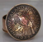 New Zealand Old Penny Coin Snuff Box / Stash Pot / Pill Box Trench Art
