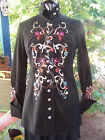 NWT~$225~Velvet Cotton Embroidered Military Style Long Jacket~S~Harolds