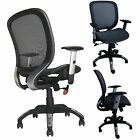 Deluxe Office Task Chair Ergonomic Mesh Back Computer W/Lumbar Support Black
