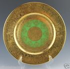 Heinrich Selb Bavaria Green Heavy Gold Encrusted Cabinet Plate