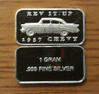 1 GRAM .999 FINE SOLID SILVER 57 CHEVY