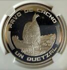 Guatemala Quetzal 1994 NGC PF 66 Ultra Cameo Silver  Low Mintage Horned Guan