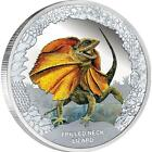 2013 Stunning $1 Remarkable Reptiles – Frilled Neck Lizard 1oz Silver Proof