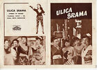 AKASEN CHITAI KENJI MIZOGUCHI MACHIKO KYO ORIGINAL YUGOSLAV MOVIE PROGRAM 1956