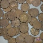 1920 D Lincoln Wheat Cent Roll 50 Circulated Pennies US Coins