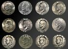 NICE COLLECTION SET UNC EISENHOWER IKE DOLLARS 1973-78 P+D - ORIGINAL MINT CELLO