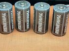 1.5 v  Rayovac Renewal Rechargeable Alkaline Batteries.  4 Size C. New bulk pack