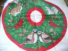 SEWING PANEL BACK TO WILD LIFE WREATH PILLOW RABBIT,SQUIRELL,BIRD  #2
