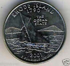 2001 P & D Rhode Island State Quarter set Gem Bu from mint sets No Reserve