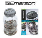 New Emerson DIGITAL COIN COUNTING MONEY JAR AUTOMATIC PIGGY BANK