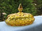 Vintage Yellow Depression Glass Butter Dish With Cover Lid Top