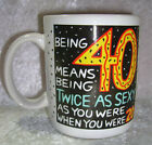 MuG, Cup, CoFFee, Tea, 40th Birthday, Sexy, Shoebox Greetings, Humor, Hallmark