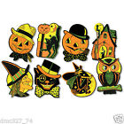 8 Vintage RETRO Styled BEISTLE Repro HALLOWEEN DECORATIONS Die cut Cutouts