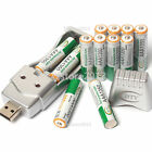 12 pcs 3A 1350mAh 1.2 V Ni-MH BTY Rechargeable Battery Cell + AA AAA USB Charger