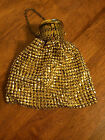 Vintage Whiting And Davis Mesh, Gold Tone, Gate-top, Beggars Bag