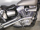 Radii Chrome Drag Sweeper Exhaust System Pipes 2 1 4 1991 2017 Harley Dyna FXD