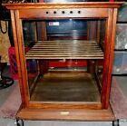 Antique Oak Country Store Display Cabinet - circa 1897