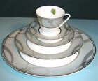Waterford BALLET ENCORE 5 Piece Place Setting Dinnerware Platinum Trim $135 New