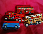 Lot of 4 Toy Buses Matchbox Made in England 1972 New York City Minivan