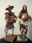 Mexican sculptured figurines paper mache figurines Mexican artist