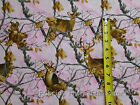 Realtree Pink Deer Bucks Tree Leaves Camo Camouflage BY YARDS  Cotton fabric