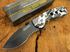 TAC-FORCE Speedster Assisted Opening Snow Camo Glass Breaker Rescue Knife 536sc
