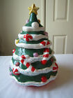Christmas Seasons Hand Painted Ceramic Christmas Tree Cookie Jar