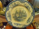 Post 1940,Wedgwood Blue&White Hague Plate, Dutch Scene, England,porcelain