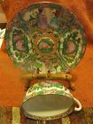 Post-1940,Vtg, Asian Hand Painted multi-colored Porcelain/ceramic Cup and Sauce