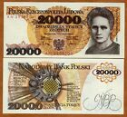 Poland, 20000 (20,000) Zlotych, 1989, P-152, UNC   Maria Curie