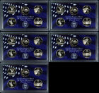 COLLECTION OF 5 LOT OF FIVE 2007 PROOF WASHINGTON STATE QUARTERS SET! 25 COINS!